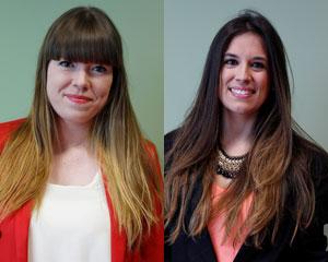 Lucía Hernández Gutiérrez y Sandra García Gallardo
